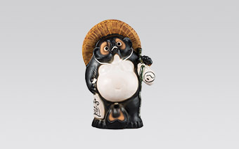 信楽たぬき Accoon Dog Ceramic Ornament(Shigaraki Tanuki)