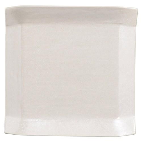 02107-100 こより(シルバ-&パ-ル)正角中皿(パ-ル)|業務用食器カタログ陶里30号