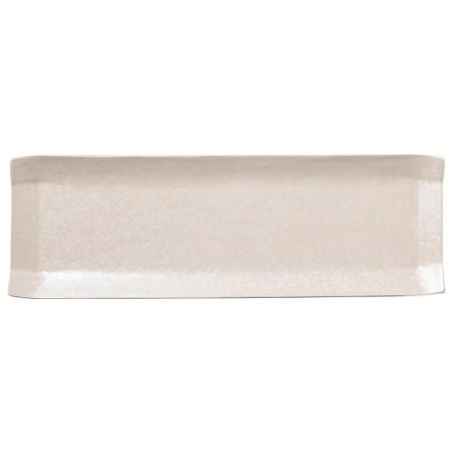 02118-100 こより(シルバ-&パ-ル)長皿(パ-ル)|業務用食器カタログ陶里30号