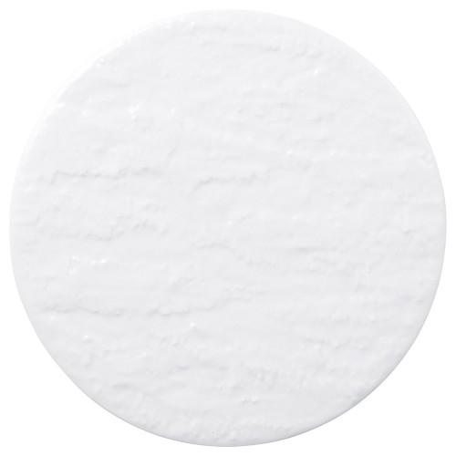 02201-100 岩肌シリ-ズ(紅柚子、白御影、白)丸24cm皿(白)|業務用食器カタログ陶里30号