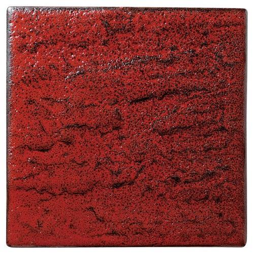 02204-100 岩肌シリ-ズ(紅柚子、白御影、白)正角20cm皿(紅柚子)|業務用食器カタログ陶里30号