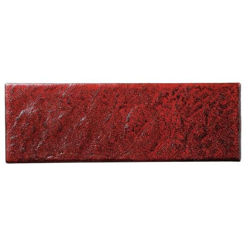 02213-100 岩肌シリ-ズ(紅柚子、白御影、白)長角36cm皿(紅柚子)|業務用食器カタログ陶里30号