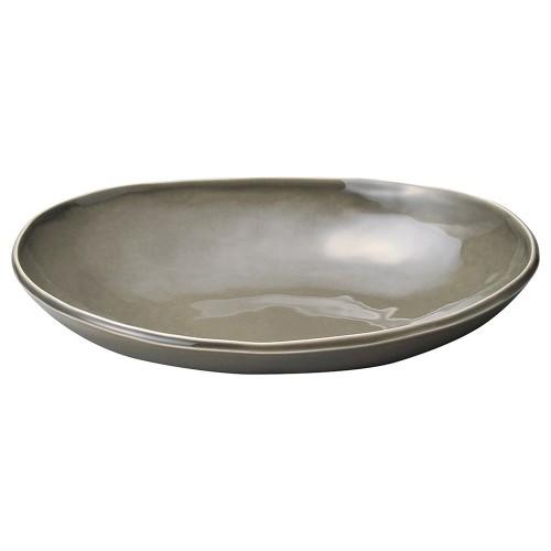 02512-080 カフェズグレ-いっぷく楕円鉢M|業務用食器カタログ陶里30号