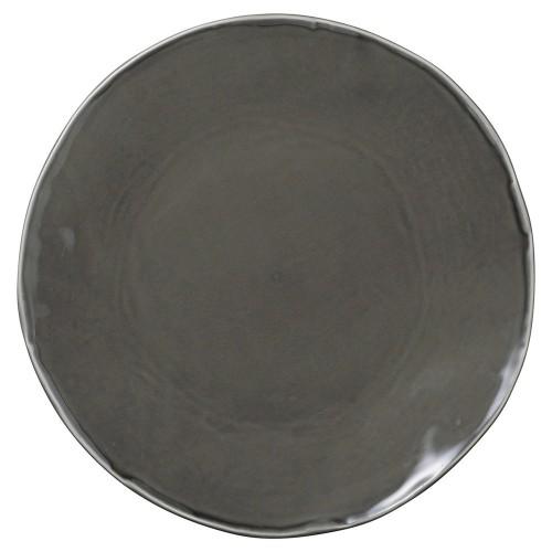 02519-080 カフェズグレ-いっぷく丸皿L|業務用食器カタログ陶里30号