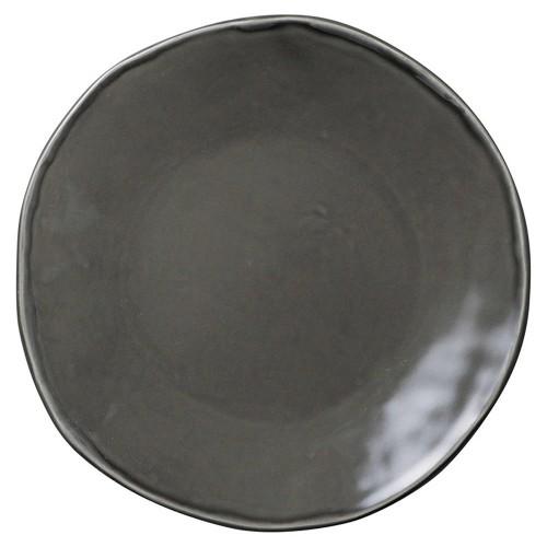 02520-080 カフェズグレ-いっぷく丸皿M|業務用食器カタログ陶里30号