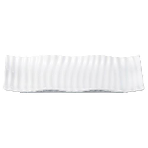 03802-110 ウェ-ブ31cm長角皿|業務用食器カタログ陶里30号