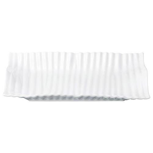 03803-110 ウェ-ブ40cm長角皿|業務用食器カタログ陶里30号