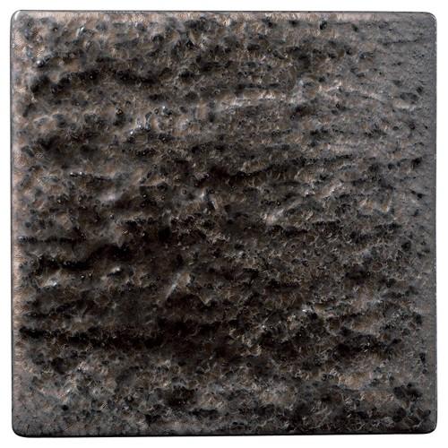 06517-460 金結晶石肌正角20cm皿|業務用食器カタログ陶里30号