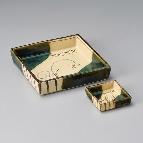 06605-450 織部つる花正角刺身鉢|業務用食器カタログ陶里30号