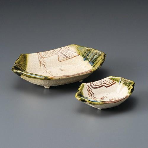 06607-450 織部舟型刺身鉢(手造り)|業務用食器カタログ陶里30号