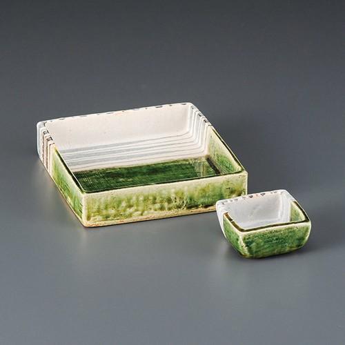 06707-460 織部十草角形小鉢(大)|業務用食器カタログ陶里30号