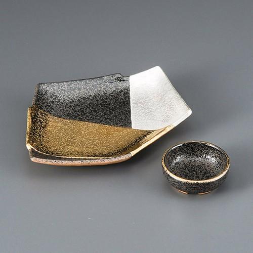 06713-450 南蛮金銀彩結び皿|業務用食器カタログ陶里30号