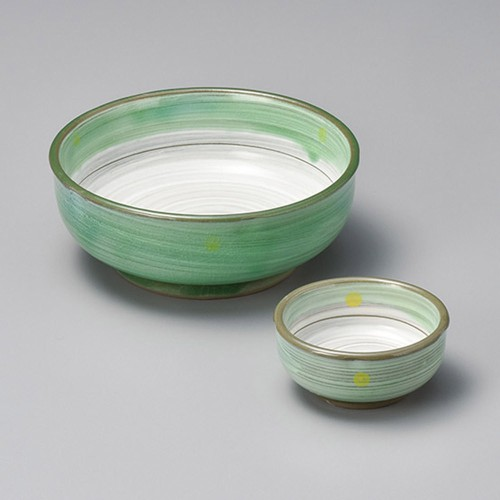 07703-180 新緑(土物)梅型刺身鉢|業務用食器カタログ陶里30号