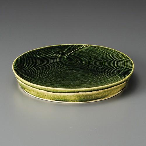 08404-450 総織部しっぴき盛皿(手造り) 業務用食器カタログ陶里30号