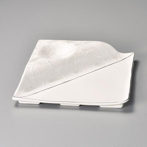 08601-180 ラスタープラチナ段付変形皿 業務用食器カタログ陶里30号