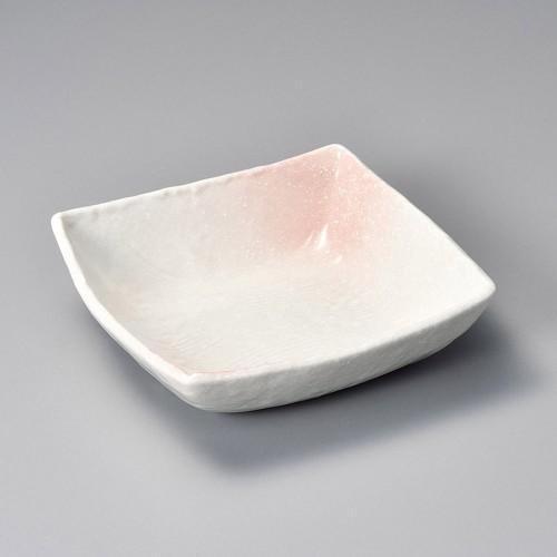 11114-300 桜吹ピンク5.0丼正角 業務用食器カタログ陶里30号