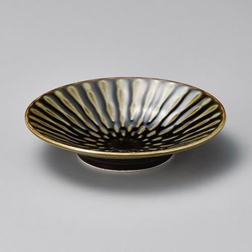 11314-080 フォーカス織部輪二重5.0浅鉢|業務用食器カタログ陶里30号