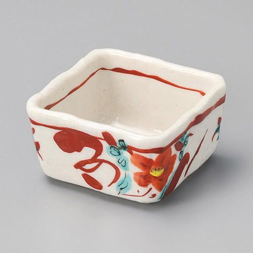 13010-450 志野赤絵角小鉢|業務用食器カタログ陶里30号