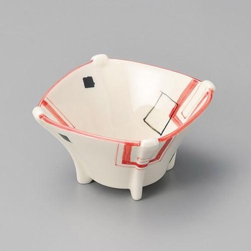13014-180 幾何柄四ツ足小鉢|業務用食器カタログ陶里30号
