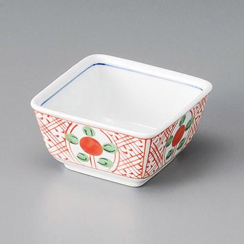 13018-230 呉須赤絵8.5cm正角小鉢|業務用食器カタログ陶里30号