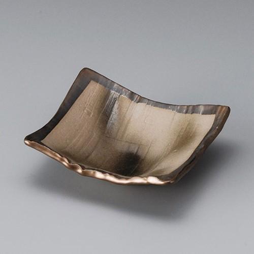 13021-310 銅彩角浅鉢|業務用食器カタログ陶里30号