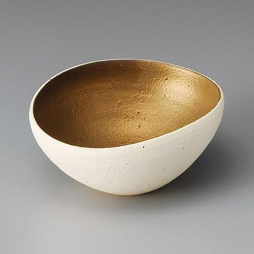 13203-430 焼〆金彩4.0楕円小鉢|業務用食器カタログ陶里30号