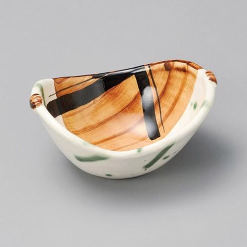 13216-010 織部サビ飛ばし両上り小鉢|業務用食器カタログ陶里30号