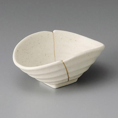 13217-070 白伊賀金線変型小鉢|業務用食器カタログ陶里30号