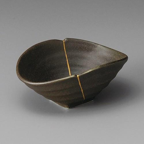 13218-070 黒伊賀金線変型小鉢|業務用食器カタログ陶里30号