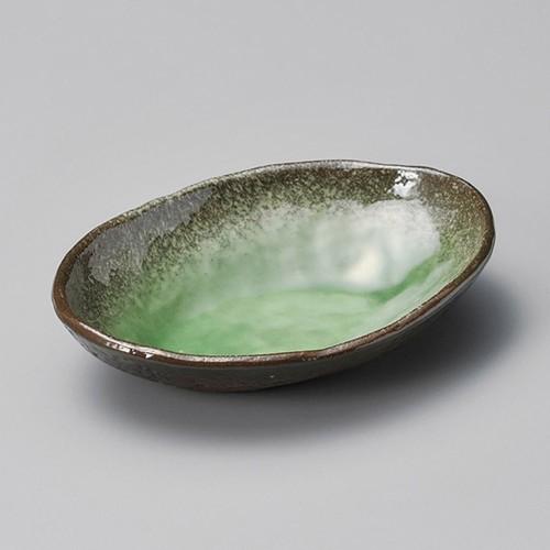 13220-460 伊賀ヒスイ(楕円)5.0浅鉢|業務用食器カタログ陶里30号