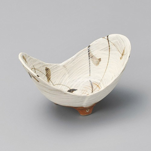 13417-030 粉引唐草二葉小鉢|業務用食器カタログ陶里30号