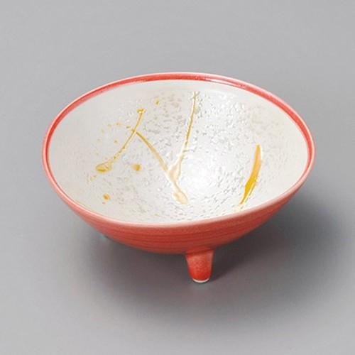 13422-180 渕赤黄とばし 三ツ足小鉢|業務用食器カタログ陶里30号
