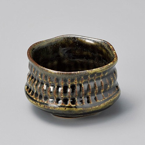 13428-400 窯変織部抹茶型小鉢|業務用食器カタログ陶里30号