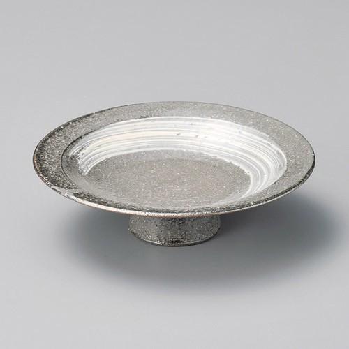 14002-430 刷毛目6.0高台皿|業務用食器カタログ陶里30号