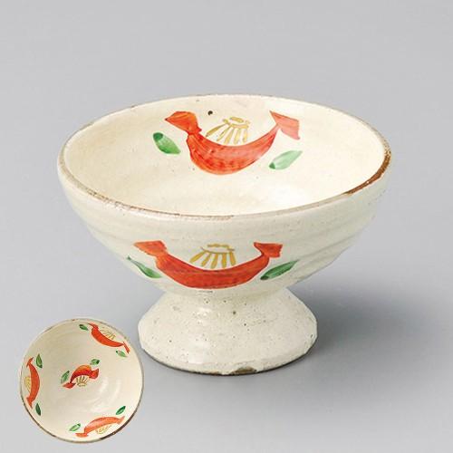 14004-050 粉引赤絵花デザート鉢(作家物)|業務用食器カタログ陶里30号