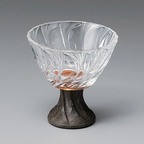 14010-460 ソワールガラス 9cm高台小鉢(炭化土)|業務用食器カタログ陶里30号