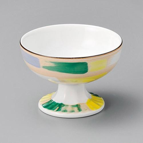 14012-450 赤絵色刷毛目高台小鉢|業務用食器カタログ陶里30号