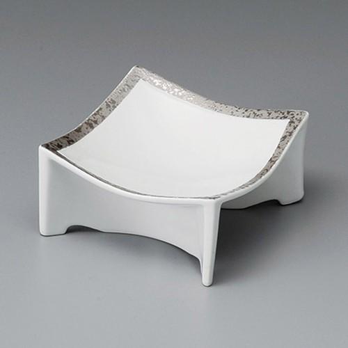 14020-230 プラチナホワイト高台正角鉢(小)|業務用食器カタログ陶里30号