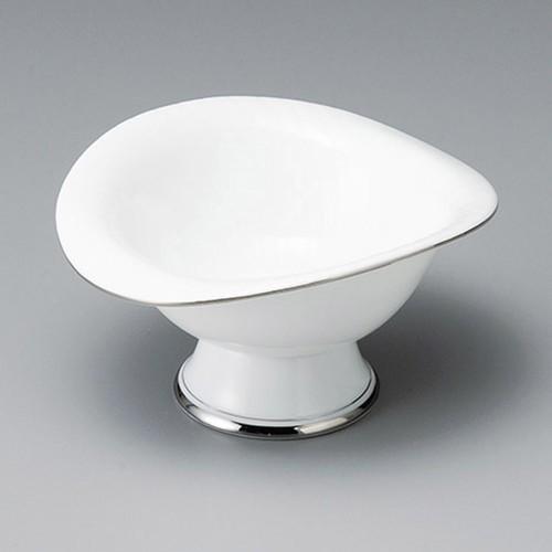 14022-180 プラチナハス形高台小鉢|業務用食器カタログ陶里30号