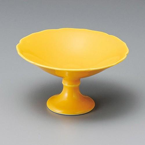 14026-030 黄釉高台小鉢|業務用食器カタログ陶里30号