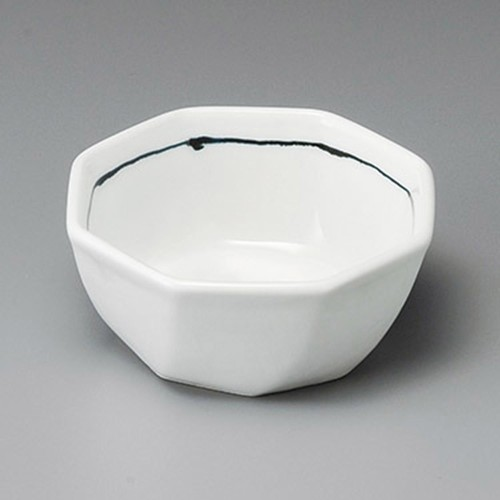 14311-410 黒1本線八角3.3鉢 業務用食器カタログ陶里30号