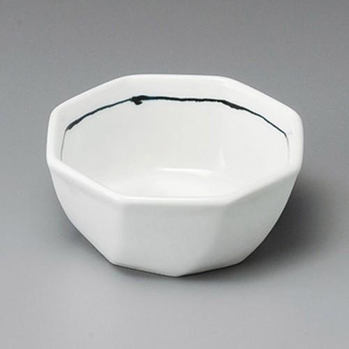 14312-410 黒1本線八角4.0鉢 業務用食器カタログ陶里30号