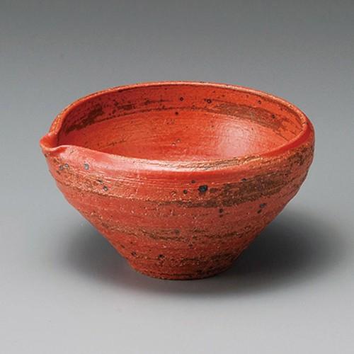 14315-030 朱釉片口中鉢 業務用食器カタログ陶里30号