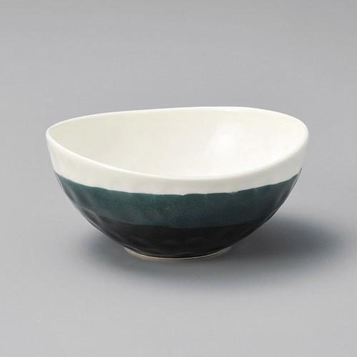 14318-450 黒釉掛楕円小鉢 業務用食器カタログ陶里30号