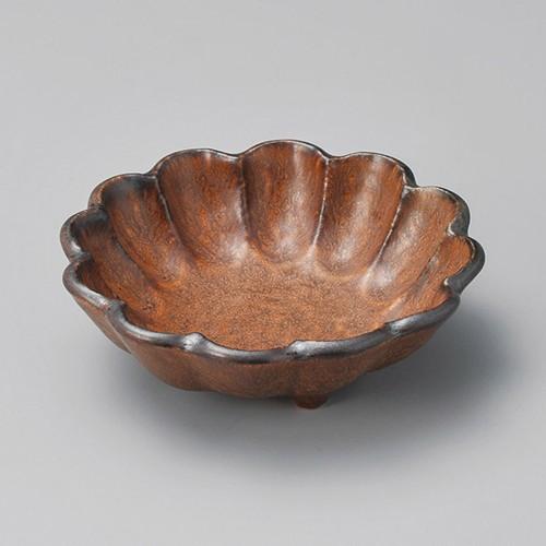 14321-100 茶マット輪花5.5寸鉢 業務用食器カタログ陶里30号