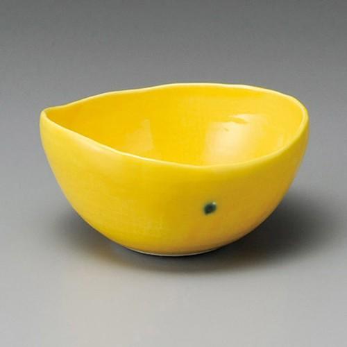 14325-320 黄輝楕円小鉢(大) 業務用食器カタログ陶里30号