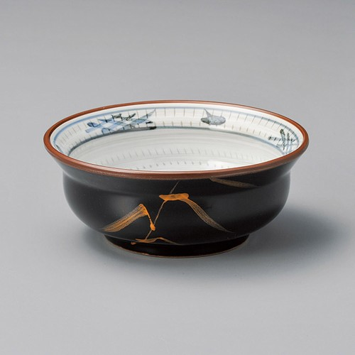 14330-180 天目金芦(土物)瓢形4.5小鉢|業務用食器カタログ陶里30号