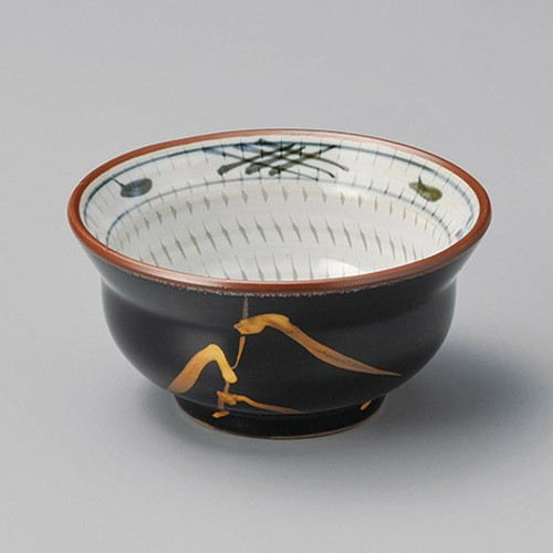 14418-180 天目金芦(土物)瓢形3.5小鉢|業務用食器カタログ陶里30号