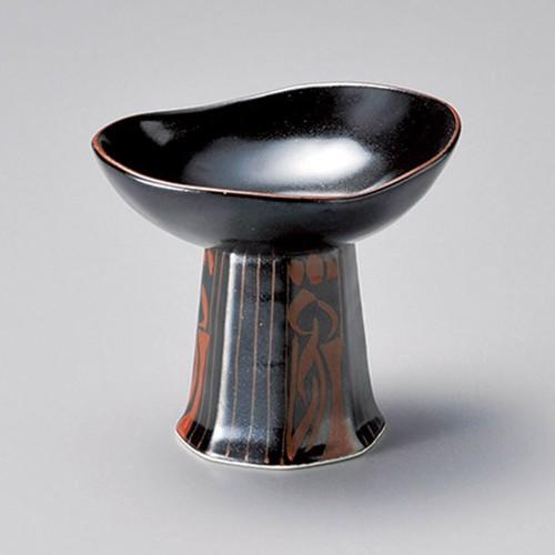 15202-180 黒釉渕赤高台小付|業務用食器カタログ陶里30号