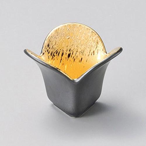 15204-410 金ベタ三葉小鉢|業務用食器カタログ陶里30号